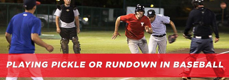 Baseball Pickle: How to Play Rundown or Hotbox | BaseballMonkey