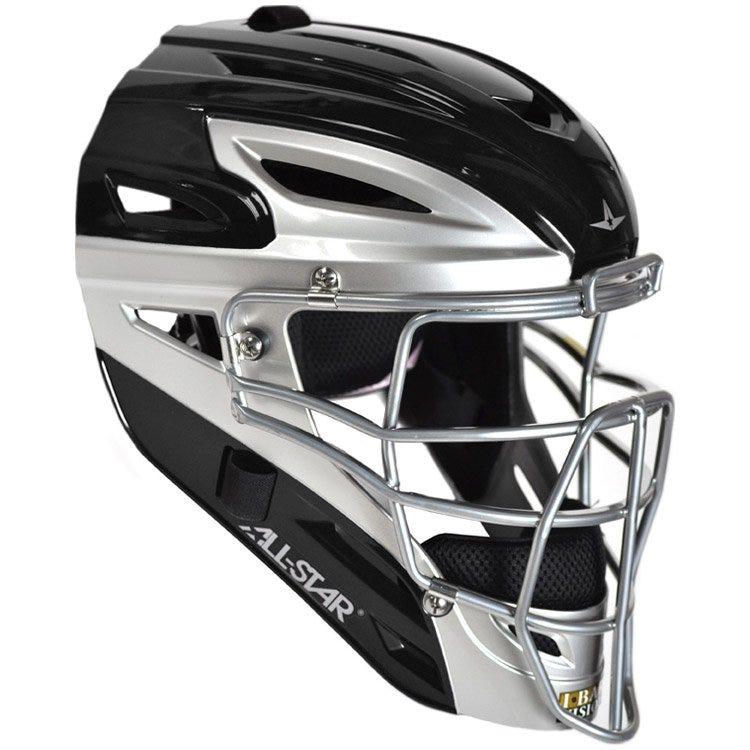 Black & Silver All Star MVP4000SL Adult Helmet - Men's - Catcher Gear