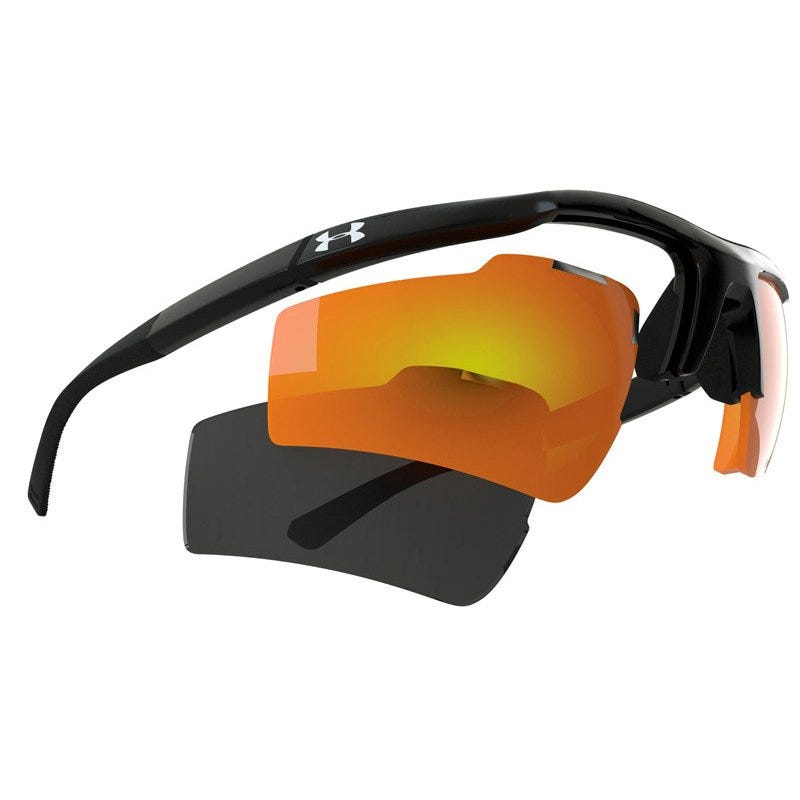 Under Armour Core Switch Satin Black Frame wGray  GrayOrange Mirrored Multiflection Lens