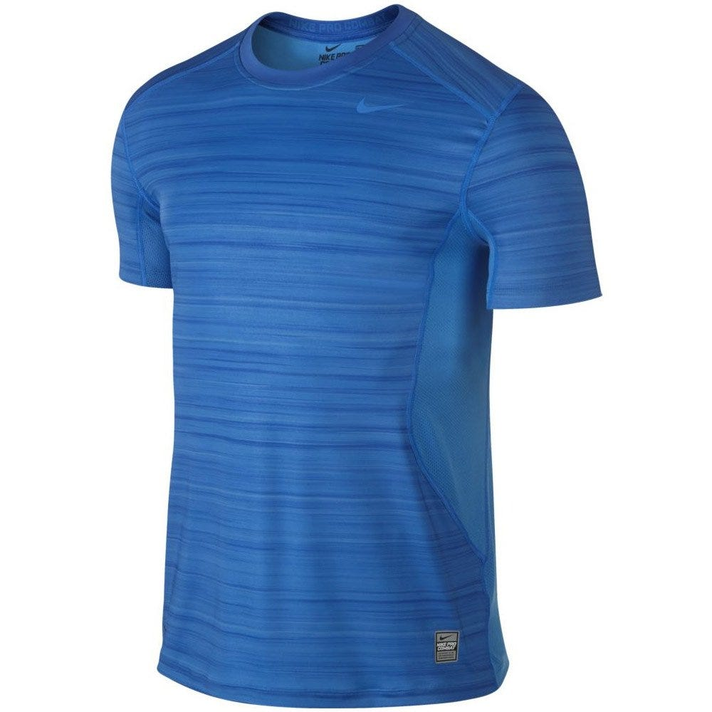 Hyperblur Core Fitted Shirt by Nike - XL Blue/Cobalt Blue