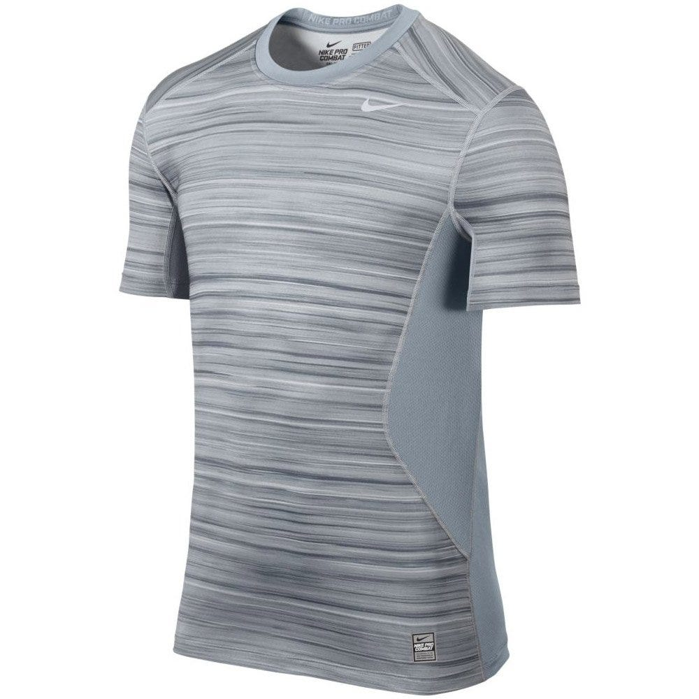 Nike Light Magnet Grey Hyperblur Core Fitted Shirt - L