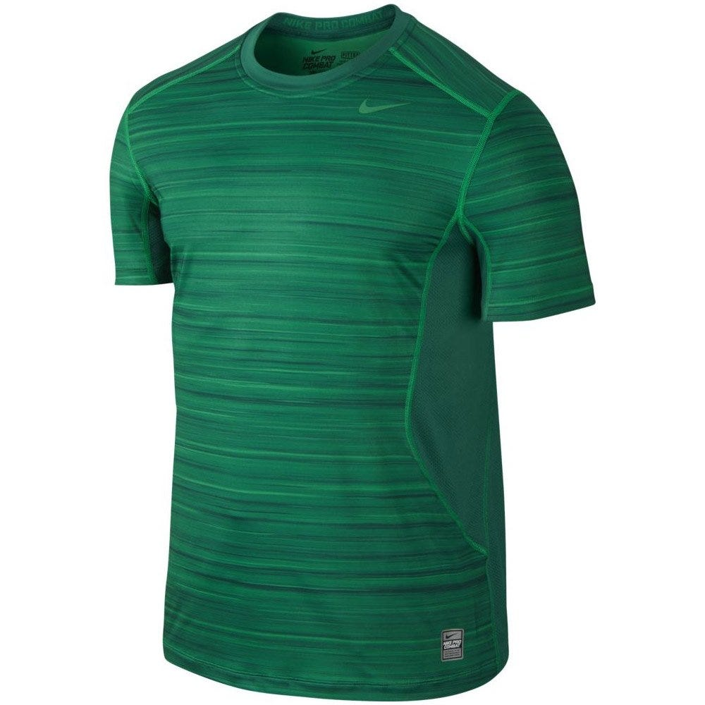 Mens XL Hyperblur Core Fitted Shirt by Nike; Lucid Green/Mystic Green