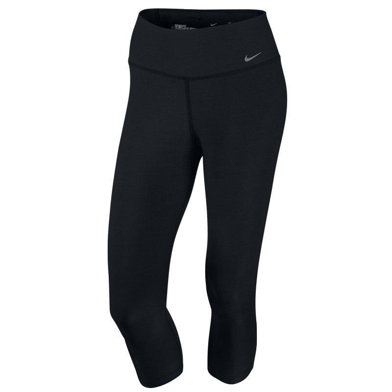 XS Softball Legend 2.0 Tight-Fit Nike Capris; Womens Black/Cool Grey