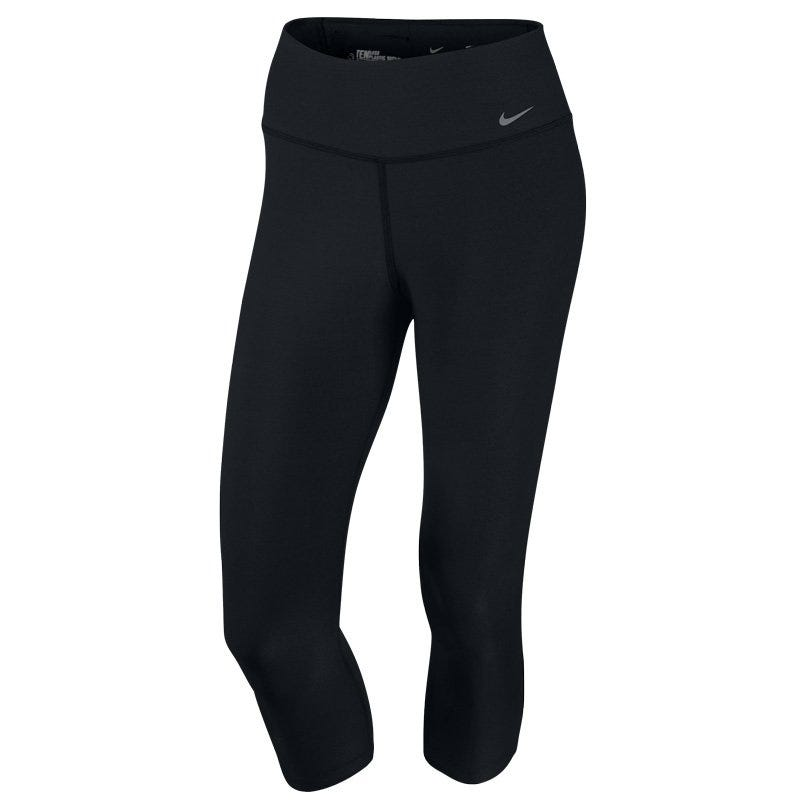 Womens L Softball Legend 2.0 Poly Capri Pants - Black/Cool Grey Nike