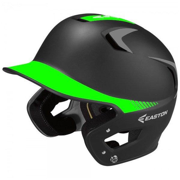 Senior Baseball Batting Helmets Black/Torque Green Grip - Easton Z5