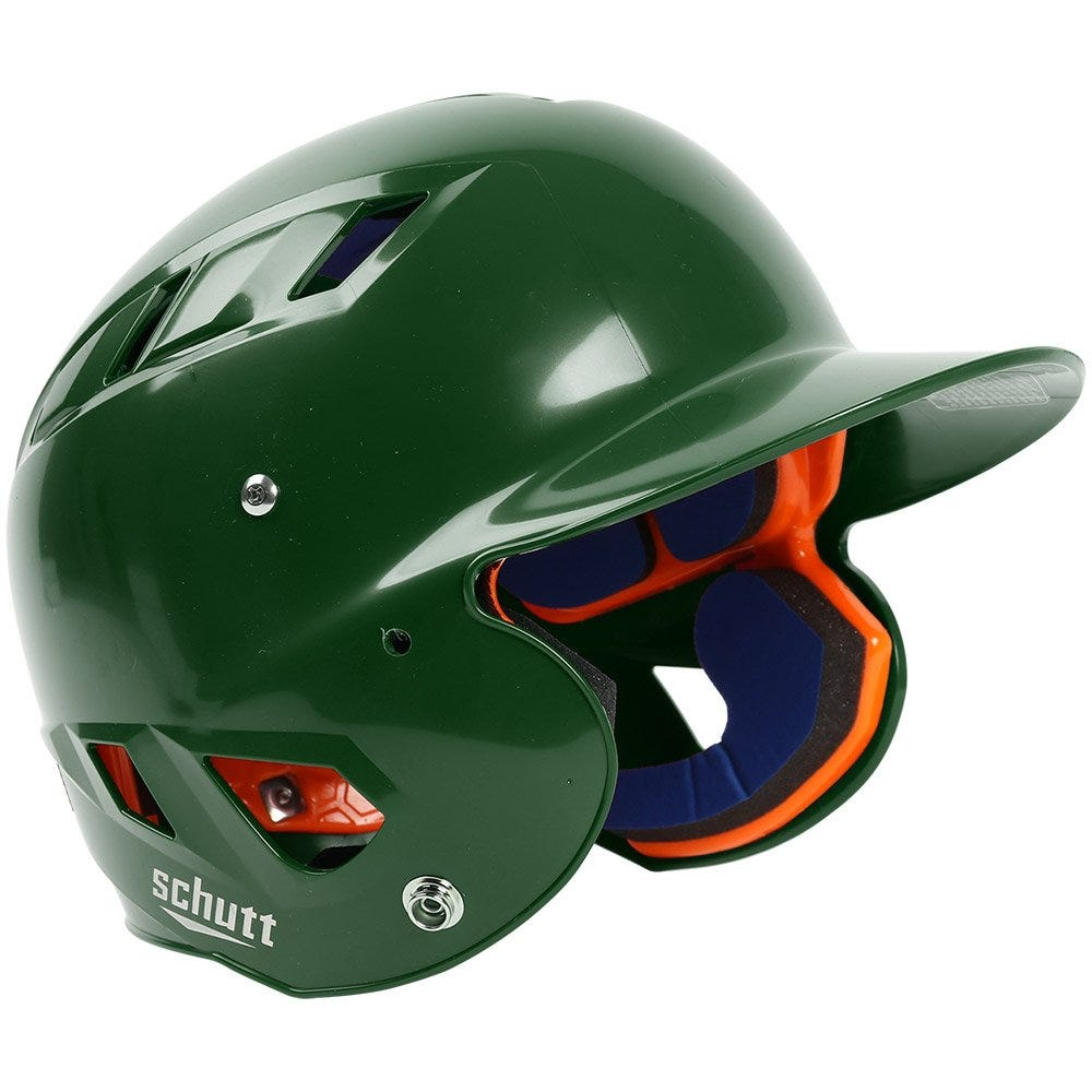 Schutt Baseball Batting Helmets AiR 4.2 Dark Green High Gloss Junior