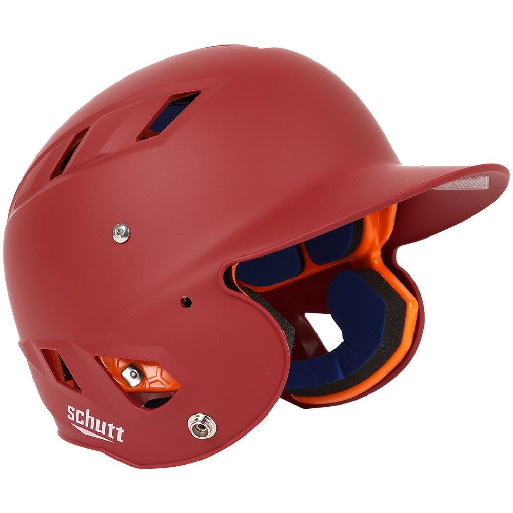Schutt Baseball Batting Helmets Cardinal Matte Senior - AiR 4.2