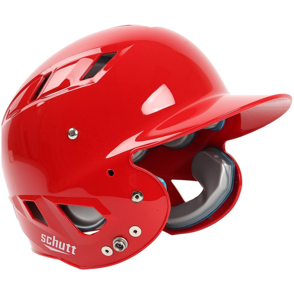 Scarlet Baseball Batting Helmets Junior - Schutt Air Maxx T 4.2