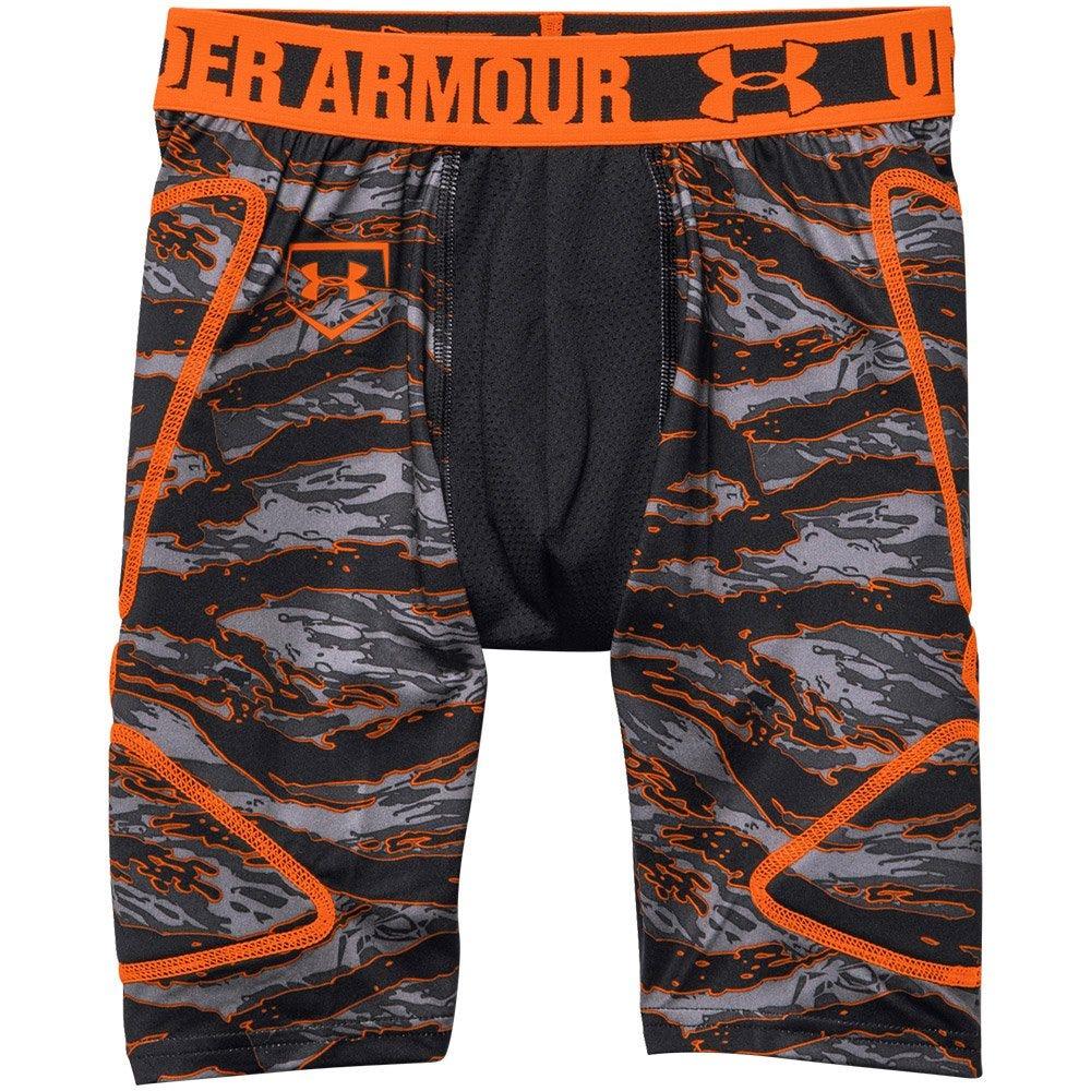 Small Break Thru Boys Slider Shorts by Under Armour; Boys Black/Orange