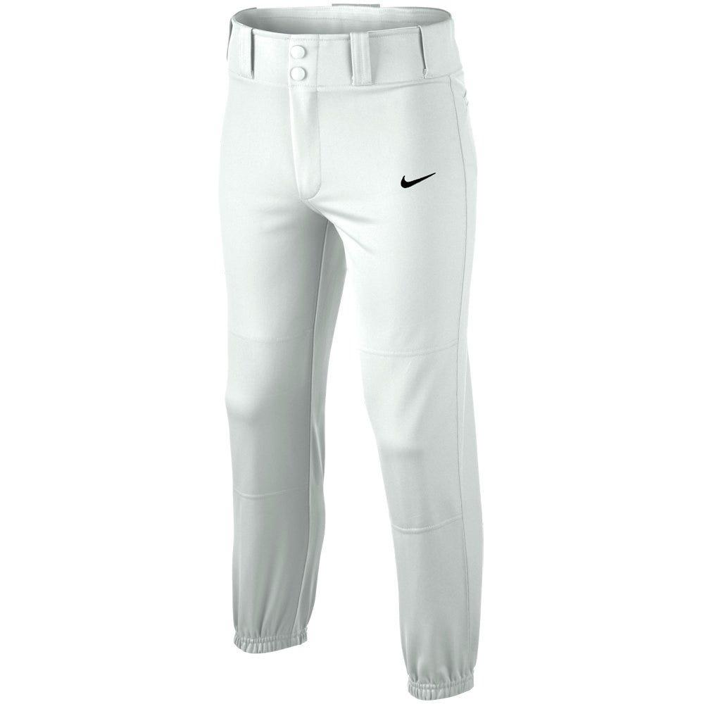 Nike White Baseball Core Dri-Fit Baseball Pant - Boys Size Large