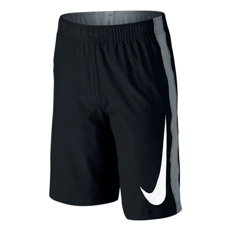 X-Small Baseball Fly Youth. Woven Shorts by Nike; Black/Gray/White