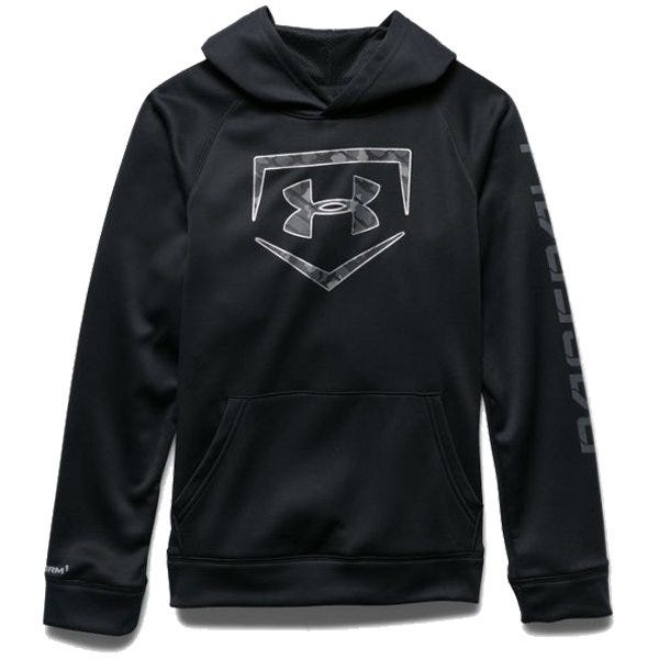 Under Armour Black Baseball Storm Diamond Sweatshirt - Boys Size Large