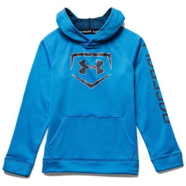 Storm Diamond Sweatshirt by Under Armour; Boys Baseball - Large Blue