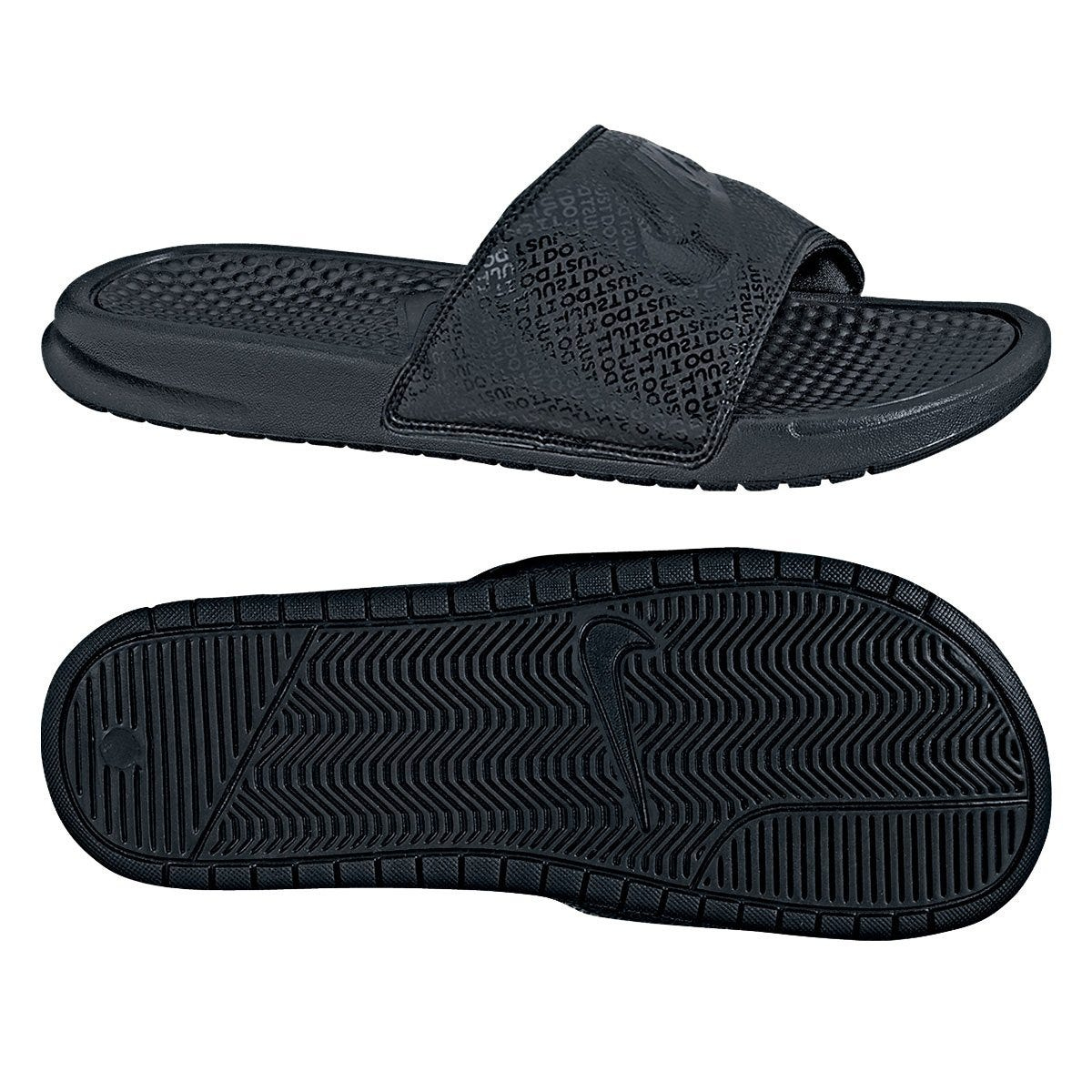 Nike Men's Benassi Just Do It Sandal - Black/Black