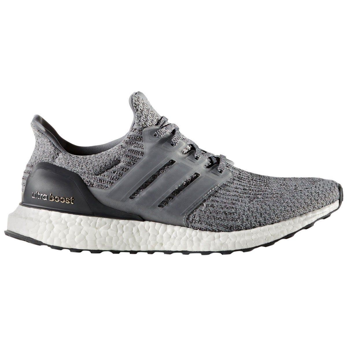 Adidas Ultra Boost Men's Running Shoes - Gray/Dark Gray/Solid Gray