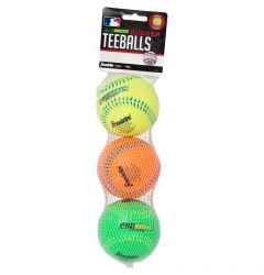 Franklin MLB ProBrite Rubber Tee Ball - 3 Pack
