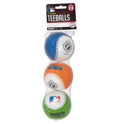 Franklin MLB Soft Strike Chrome Tee Ball - 3 Pack