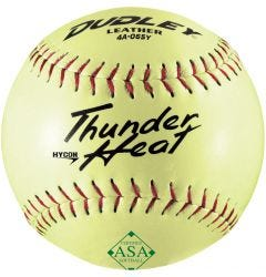 Dudley Thunder Heat HyCon 4A-065Y ASA Slowpitch Softball - 1 Dozen