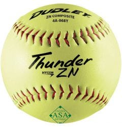 Dudley Thunder ZN HyCon 4A-068Y ASA Slowpitch Softball - 1 Dozen