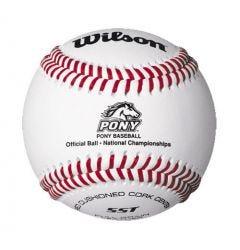 Wilson A1075 BSST Pony League Tournament Play Baseball - 1 Dozen