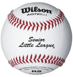 Wilson A1072 Raised Seam Senior League Baseball - Dozen