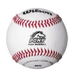 Wilson A1075 BPL1 Pony League Season Play Baseball - 1 Dozen