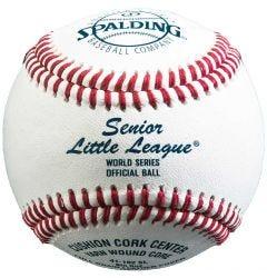Dudley 41-102SL Senior Little League Tournament Baseball - 1 dozen