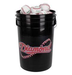 Diamond Black Bucket w/ 30 D-OB Baseballs