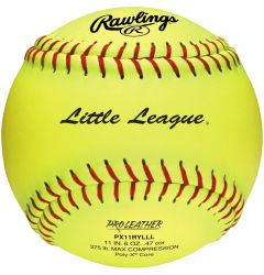 "Rawlings PX11RYLLL 11"" Little League Fastpitch Softball - Dozen"