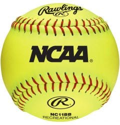 "Rawlings NCAA 11"" Training Softball - Dozen"