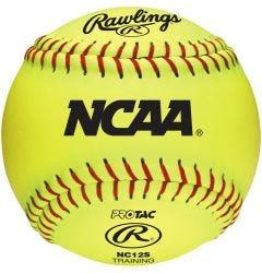 "Rawlings NCAA 12"" Soft Training Softball - Dozen"