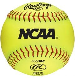"Rawlings NCAA 11"" Soft Training Softball - Dozen"