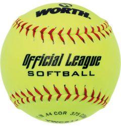 "Worth Official League 11"" Slowpitch Softball - Dozen"