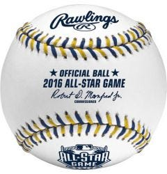 Official 2016 MLB All Star Baseball in Display Cube