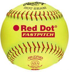 "Rawlings ASA/NFHS Red Dot 12"" Softball - Dozen"