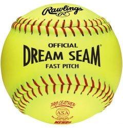 """Rawlings ASA/NFHS Dream Seam 12"""" Softball - Dozen"""