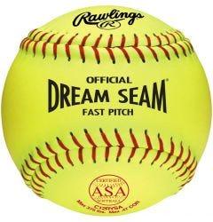 "Rawlings ASA Dream Seam 12"" Softball - Dozen"