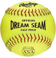 "Rawlings ASA Dream Seam 11"" Softball - Dozen"