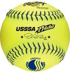 "Rawlings USSSA Pride 12"" Fastpitch Softball - Dozen"