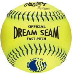 "Rawlings USSSA Dream Seam 12"" Softball - Dozen"