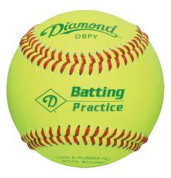 Diamond DBPY Batting Practice Baseball - 1 Dozen