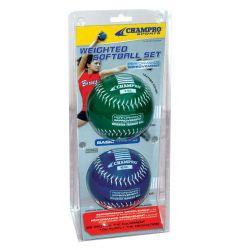 Champro Basic Weighted Training Softballs - 2 Pack