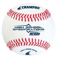 Champro CBB-200HS NFHS Practice Baseball - 1 Dozen