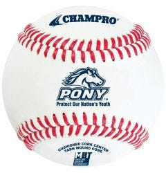 Champro CBB-300PL Pony League Tournament Baseball - 1 Dozen