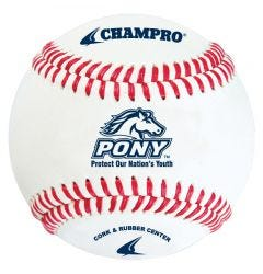 Champro CBB-200PL Pony League Baseball - 1 Dozen