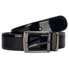 Adams Adjustable & Reversible Patent Leather Belt
