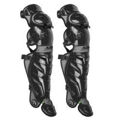 """All Star LG40XPRO System 7 Axis 17.5"""" Adult Baseball Catcher's Leg Guards"""