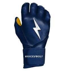Bruce+Bolt Men's Premium Cabretta Leather Long Cuff Batting Gloves - 2020 Model
