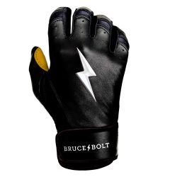 Bruce+Bolt Men's Premium Cabretta Leather Short Cuff Batting Gloves - 2020 Model