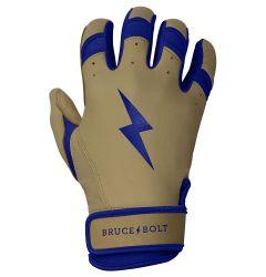 Bruce+Bolt Pro Natural Series Premium Cabretta Leather Short Cuff Youth Batting Gloves
